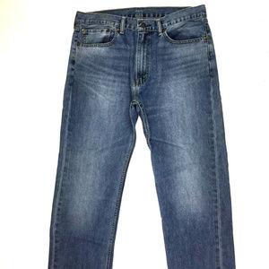 Levi's 505 Men's Straight Leg Jeans W36 X L31 Blue